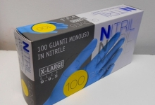 GUANTI IN NITRILE XL 100 PZ