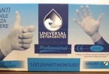 "GUANTI IN VINILE ""L"" UNIVERSAL DET 100 PZ"