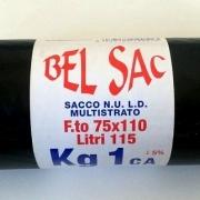 SACCHI N.U. NERI 75X110 ROTOLI DA 1 KG